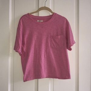 Madewell Cropped T-shirt w/ Pocket